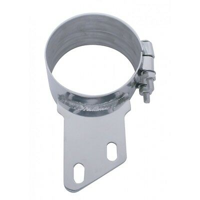 """exhaust 8"""" butt joint clamp with angle bracket stainless for Peterbilt stacks"""