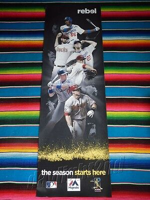 ✺New✺ MLB LA Dodgers v Diamondbacks OPENING SERIES Baseball Poster 154x49cm