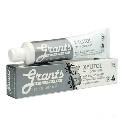 Grants Xylitol with Mild Mint Toothpaste - SLS & Fluoride Free (110g) NEW