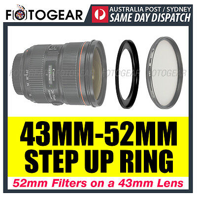 Step Up Ring 43-52mm Filter Lens Adapter 43mm-52mm AUSPOST