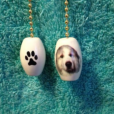 One Great Pyrenees Dog Fan Pull With Paw Prints On The Back 1""