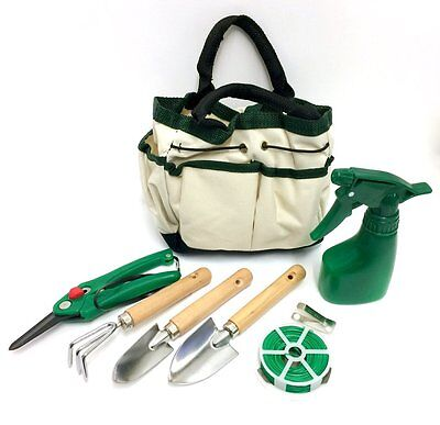 Amazing 7 piece Mini Garden Gardening Plant Tools Set with Bag, 3 Piece tool Set