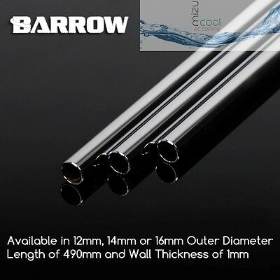 2 x Chrome Plated Copper Tubes 490 mm Size OD 12mm 14mm 16mm watercooling