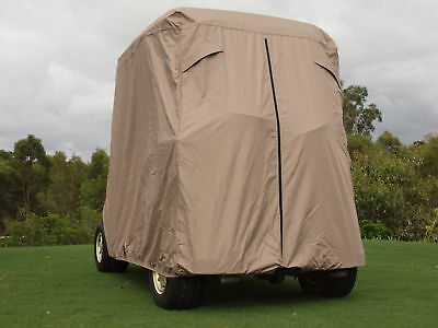 Golf buggy cart cover waterproof  high quality product, tan 2 year warranty