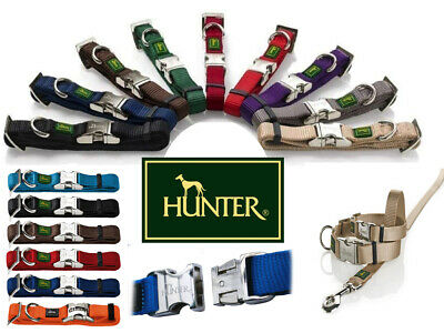 Hunter Nylon Dog Collar With Alu-Strong Clip **free Postage** !!!all Sizes!!!