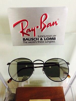 vintage ray ban bausch and lomb  vintage ray ban bausch and lomb g31 mirror lens tortoise round 52mm sunglasses