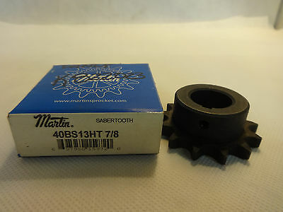 "New In Box Martin 40Bs13Ht 7/8""  Sprocket"