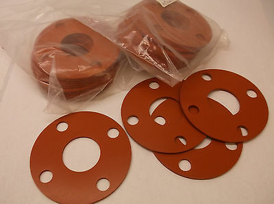 New 14pk Flange Gasket Full Face 1 1/2In Silicone  (D18)