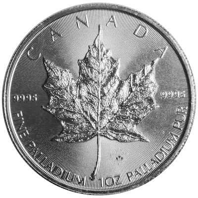 2015 $50 Palladium Canadian Maple Leaf .9995 1 oz BU Sealed