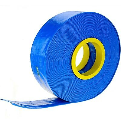 """30m x 1"""" 25mm ID Outlet Layflat Hose Lay Flat Water Hose for Transfer Pump Etc"""