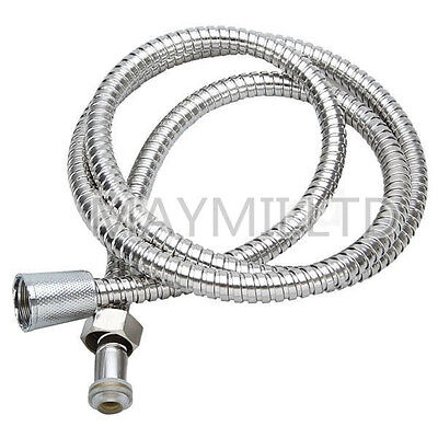 1.5M Flexible Chrome Shower Water Hose Stainless Steel Bathroom Bath Pipe LS30#