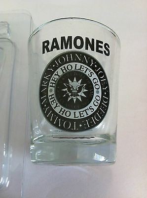 THE RAMONES Shot Glass 2 inch Hey Ho Let's Go Shotglass NEW OFFICIAL MERCHANDISE