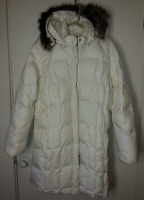 EDDIE BAUER LODGE DOWN PARKA XLCream Color-Fabulous-Detatchable Hood & FauxFur