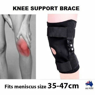 Double Plastic Hinged Full Knee Support Brace Knee Protection & Sport AU