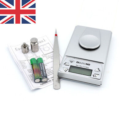 UK High Precision Milligram Digital Jewelry Golden Kitchen Coin Scale 0.001-20g