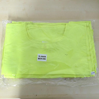 X10 Ls Sportif Yellow Fluorescent Sports Bibs Juniors Brand New