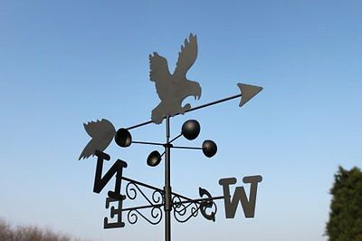 EAGLE steel weathervane with ground spike and wall fixing