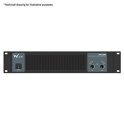 W Audio XTR 1500 Power Amplifier Sound System PA 2 x 750w RMS DJ Disco