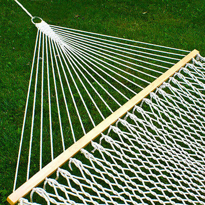Double 2 Person Outdoor Swing Hanging Camping Cotton Bed Patio Spreader Hammock