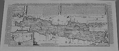 Antique map, Carte de l'ile de Java