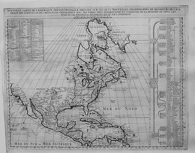 Antique map, Nouvelle carte de l'Amerique septentrionale