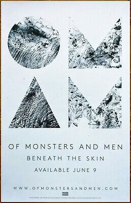 OF MONSTERS AND MEN Beneath The Skin 2015 Ltd Ed RARE Poster +FREE Indie Poster!