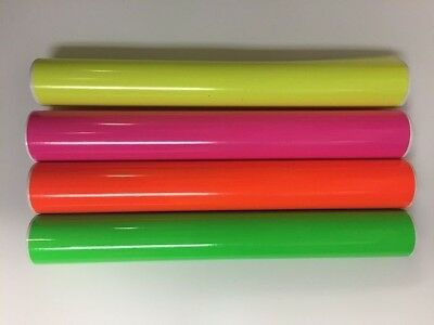 "1 Roll Fluorescent Vinyl Yellow  24"" x 1 Feet  Free Shipping Total  9.99"