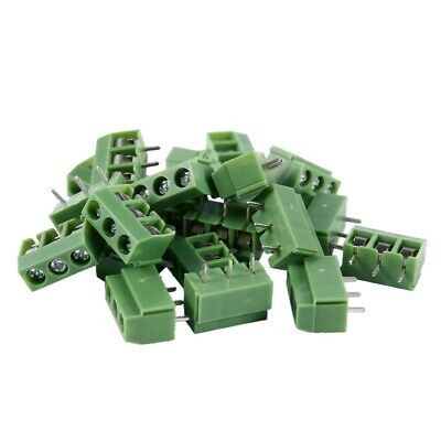 20 Pcs 3 Pin 5mm Pitch PCB Mount Screw Terminal Block AC 250V 8A TP