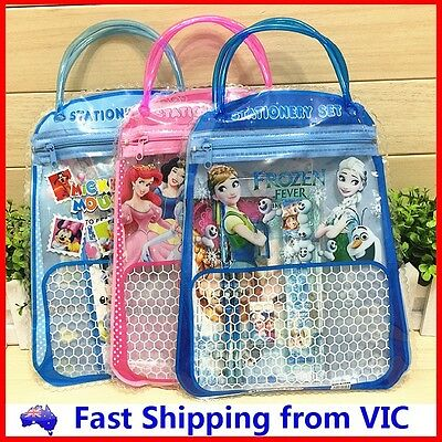 7 in 1 Cartoon Hand Bag Stationery Set Novelty Kids School Office Party Gift