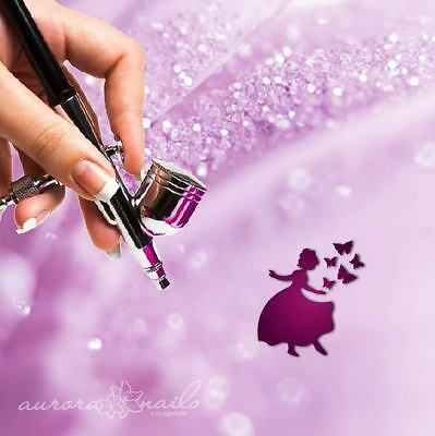 Airbrush sticky Stencils - M551 - Nailart - Princess Butterfly Fairy 80 Pcs