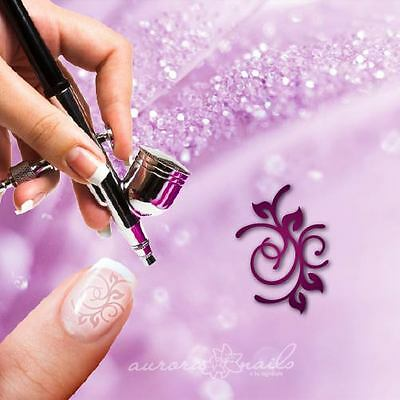 Airbrush sticky templates F312 NAILART Ornament Floral Flourish Tendril 20x