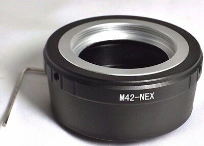 M42 Screw Lens to Sony NEX E Mount adapter 5R 5T C3 Camera ILCE a6300 a5100 a7 2