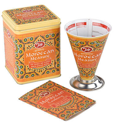 Tala Moroccan Cooks Measure Storage Tin Recipe Leaflet Set Tagine African Gift