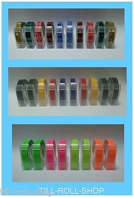 9mm Embossing Tape - Various Colours, Designs and Quantities - Motex E101