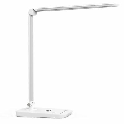 8W Touch Sensor 54 LED Light Dimmable Desk Table Reading Book Lamp 500lm + Power