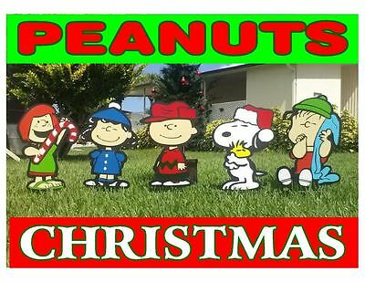 charlie brown peanuts combo holiday yard lawn art decorations
