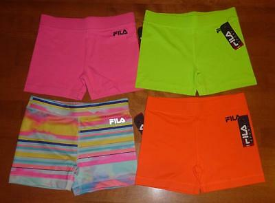 "Girls FILA SPORTS Compression Shorts Volleyball Size S M L  XL Spandex 3"" inseam"