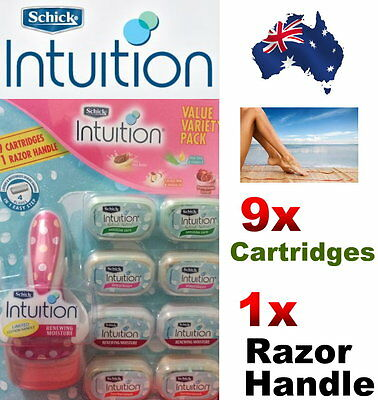 Schick Intuition Sensitive Care Razor 9 Cartridges 1 Razor Handle Value Variety