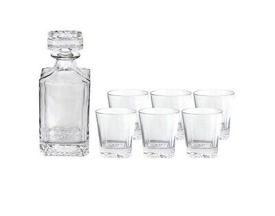 New DUBLIN WHISKEY SET 7 PIECES DECANTER and 6 GLASSES