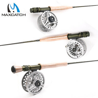 5/6/8 Weights Fly Rod And Fly Reel Combo Medium Fast Fly Fishing Rod