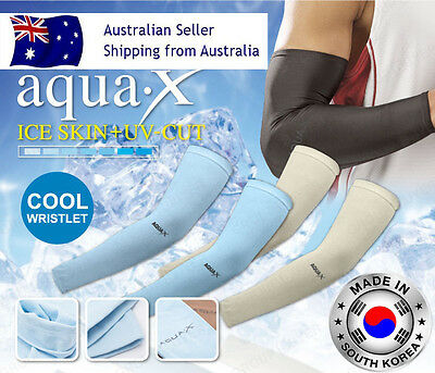 1 Pair Golf Cooling Sport Arm Stretch Sleeves UV Sun Protection Outdoor Cycling