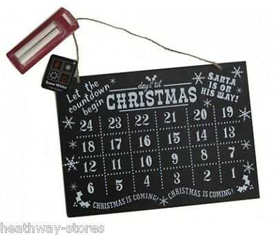 Hanging Wooden Countdown To Christmas Chalkboard Kids Gift Advent Alternative