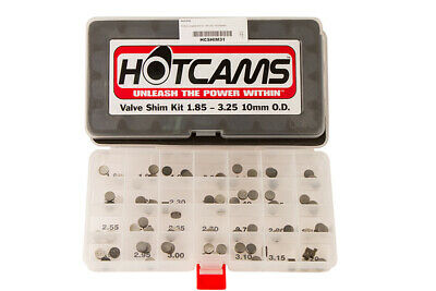 HOT CAMS SHIM KIT  10.00mm Complete kit   1.80- 3.20mm .05mm increments