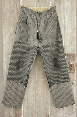 Antique French men's workwear work wear Chore clothes pant trousers 30 waist