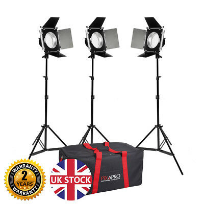 LED380 Portable Barndoor LED Video Lighting Kit Interview Dimmable 5500K Retail