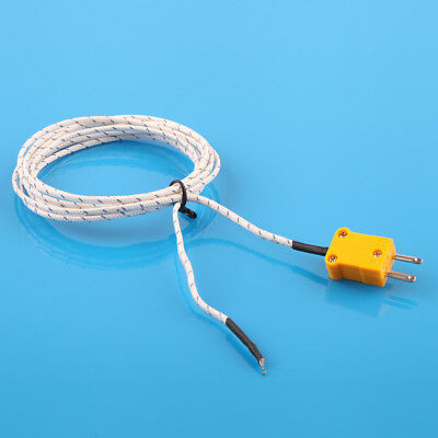 200cm Length Wire Temperature Test K-type Thermocouple Sensor Probe Tester New