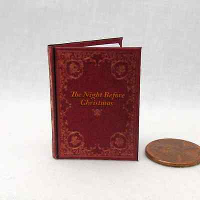 THE NIGHT BEFORE CHRISTMAS 1:6 Scale Color Illustrated Readable Book bjd Barbie