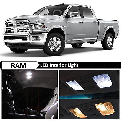 12x White Interior Map Dome LED Lights Package Kit for 2009-2014 Dodge RAM 1500