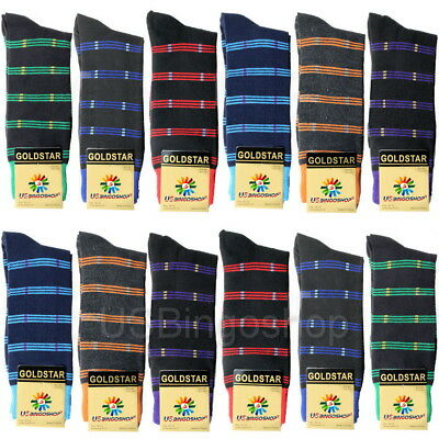 Lot of 12 Pairs 2519CD New Men's Diamond Argyle Dress Socks 10-13 Multi Color