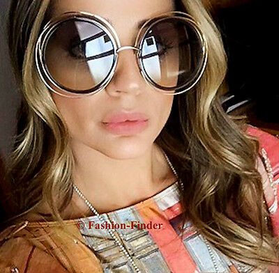 Retro Oversized Huge BOHO Big XXL Carlina Large Metal Wire Vintage Sunglasses L